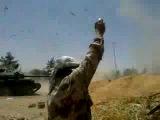 В конце видео видно как танкист с танка катапультируется.